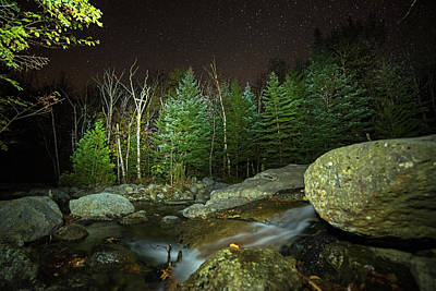 Photograph - Starry Sky Over Marcy Dam Area Keene Valley New York Ny Adirondacks by Toby McGuire