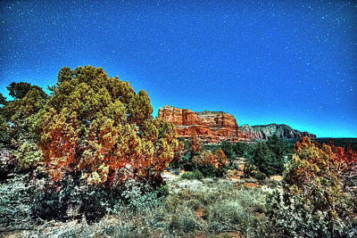 Photograph - Starry Sky Over Sedona Az Arizona by Toby McGuire