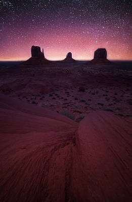Photograph - Starry Splendor // Monument Valley // Arizona   by Nicholas Parker