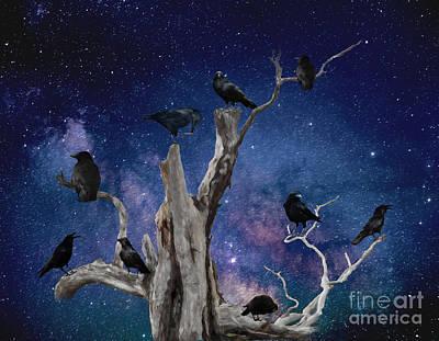 Digital Art - Starry Starry Night 2 by Jim Hatch
