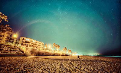 Starry Starry Pacific Beach Art Print