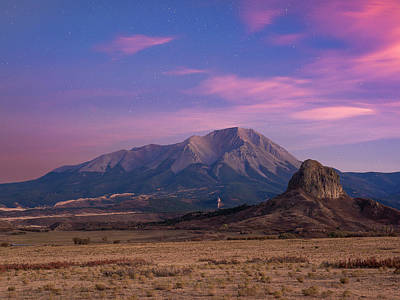Art Print featuring the photograph Starry Sunset Over West Spanish Peak by Aaron Spong