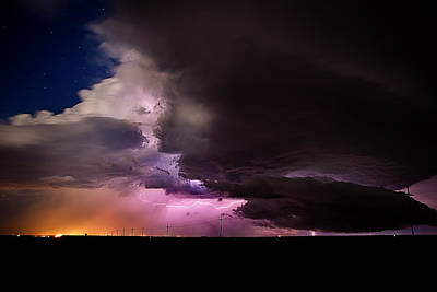 Lightning Photograph - Starry Thunder by Thomas Zimmerman