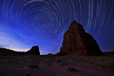 Southwest Landscape Photograph - Stars Above The Moon by Chad Dutson
