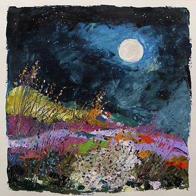 Painting - Stars And Moon by John Williams