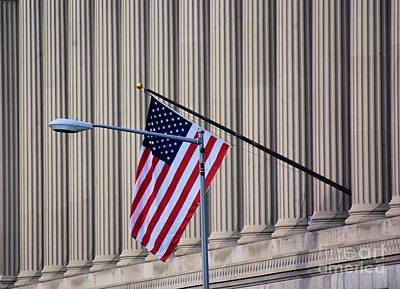 Photograph - Stars And Stripes And Pillars Oh My  by John S