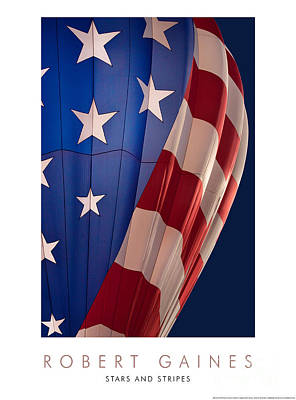 Photograph - Stars And Stripes Balloon by Robert Gaines