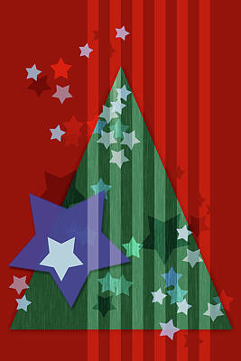 Susann Serfezi Wall Art - Digital Art - Stars And Stripes - Christmas Edition by AugenWerk Susann Serfezi