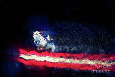 Photograph - Stars And Stripes - Colour Explosion by Michelle Wrighton