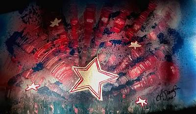 Painting - Stars And Stripes Forever by CA Simonson