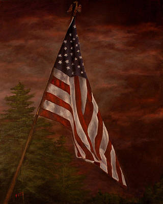 Painting - Stars And Stripes Forever by Rick Fitzsimons
