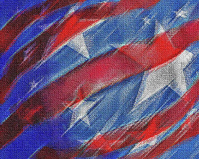 Digital Art - Stars And Stripes by Ian  MacDonald