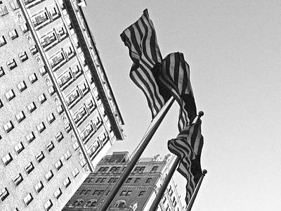 Photograph - Stars And Stripes Manhattan by Steven Lapkin