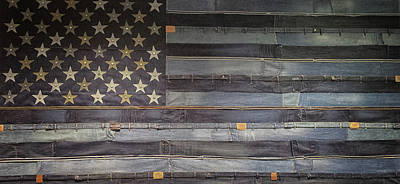 Element Photograph - Stars And Stripes by Martin Newman