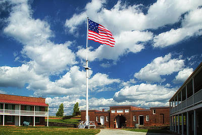 Photograph - Stars And Stripes Over Fort Mchenry Parade Grounds by Bill Swartwout