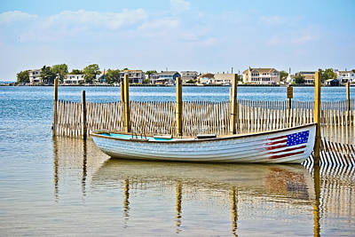 Photograph - Stars And Stripes Rowboat by Colleen Kammerer