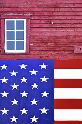 Photograph - Stars And Stripes - Rural Abstract - 1 by Nikolyn McDonald
