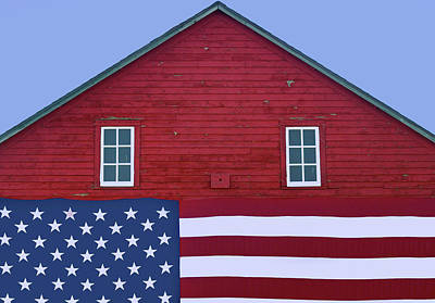 Photograph - Stars And Stripes - Rural Abstract - 2 by Nikolyn McDonald