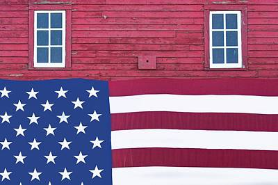Photograph - Stars And Stripes - Rural Abstract - 3 by Nikolyn McDonald