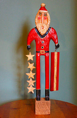 James Neill Sculpture - Stars And Stripes Santa by James Neill