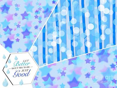 Digital Art - Stars And Stripes Shower Design by Joan-Violet Stretch