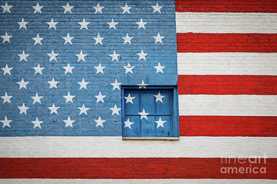 Stars And Stripes Wall Art Print by Inge Johnsson