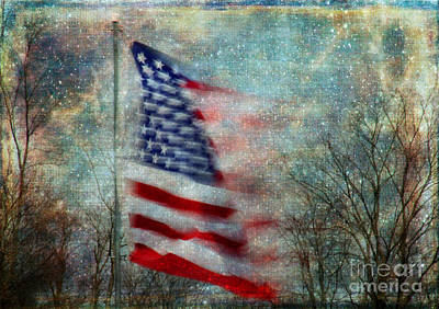 Photograph - Stars And Stripes American Flag Artistic Liberty by Clare VanderVeen