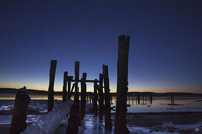 Photograph - Stars At Sandy Point Sunrise  by John Meader