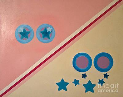 Artpro.com Painting - Stars Fell From Her Eyes by Karen Francis