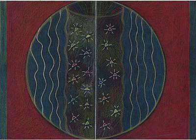 Visionary Art Drawing - Stars Mandala 1 by Kim Alderman