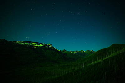 Photograph - Stars Mountains And A Little Light by Jeff Swan