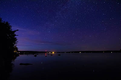 Photograph - Stars Over Branch Lake by Kirkodd Photography Of New England