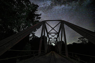 Photograph - Stars Over Bull Slough Bridge by JC Findley