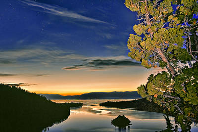 Photograph - Stars Over Emerald Bay by Maria Coulson