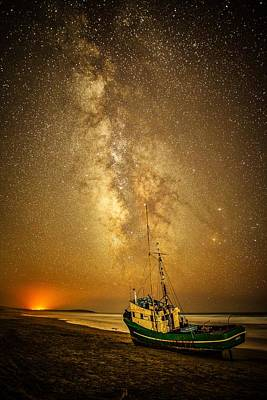 Photograph - Stars Over Fishing Boat by Unsplash