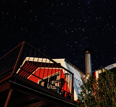 Photograph - Stars Over Gila Cottage by Lon Dittrick