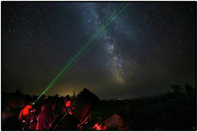 Photograph - Stars Over Katahdin 2017 by John Meader