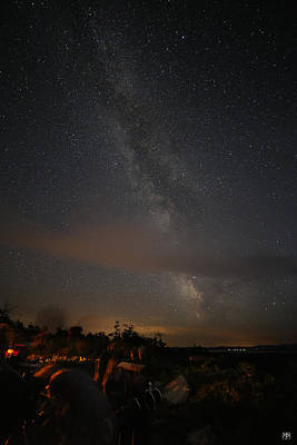 Photograph - Stars Over Katahdin Star Party by John Meader
