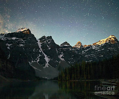Photograph - Stars Over Lake Moraine by Art Cole