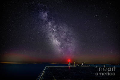 Photograph - Stars Over Lake Ontario by Roger Monahan