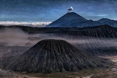 stars over Mount Bromo - Java Art Print by Joana Kruse