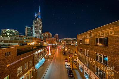 Photograph - Stars Over Nashville by Anthony Heflin