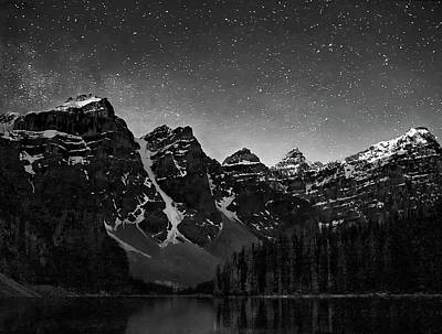 Photograph - Stars Over Ten Peaks by Art Cole