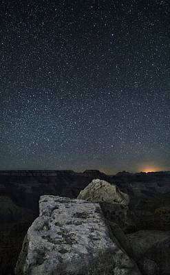 Photograph - Stars Over The Grand Canyon by Art Cole