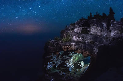 Sigma Photograph - Stars Over The Grotto by Cale Best