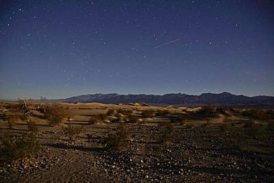 Photograph - Stars Over The Mesquite Dunes by Michael Courtney