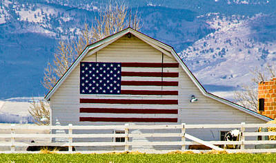 Photograph - Stars Stripes And Barns by Marilyn Hunt