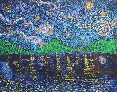Painting - Starshine Lake by Stefan Duncan
