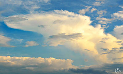 Photograph - Starship Enterprise Cloud by Ally White