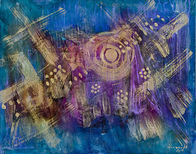 Pearlescent Mixed Media - Starship Vortex by Don  Wright